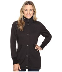 Woolrich Alpine Wool Fleece Long Coat Black Heather Women's Coat