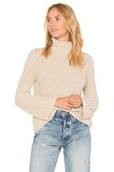 525 America Turtleneck Bell Sleeve Sweater Beige