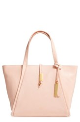 Vince Camuto Reed Small Leather Tote Orange Pale Peach