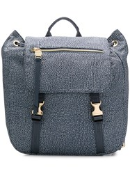 Borbonese Foldover Top Backpack Grey