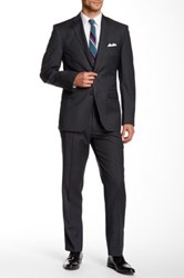 Vince Camuto Two Button Notch Lapel Wool Suit Gray