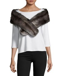 Parkhurst Julia Faux Fur Scarf Brown