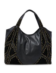 Steve Madden Lora Suede Patched Hobo Bag Black