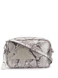 Golden Goose Python Effect Star Shoulder Bag Grey