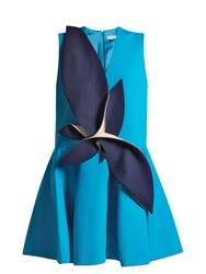 Delpozo Structured Cotton Dress Blue