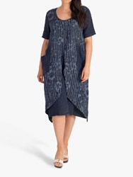 Chesca Floral Wrap Dress Navy