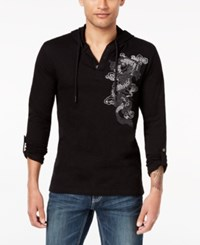 Inc International Concepts Men's Embroidered Dragon Hoodie Created For Macy's Deep Black