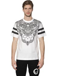 Hydrogen Tattoo Printed Cotton Jersey T Shirt