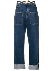 J.W.Anderson Jw Anderson Rope Detail Slouched Jeans Blue