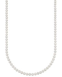 Belle De Mer Pearl Necklace 24' 14K Gold A Akoya Cultured Pearl Strand 6 6 1 2Mm