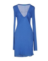 Phard Knee Length Dresses Blue