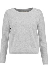J Brand Alex Stretch Knit Sweater White