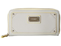 Nine West Table Treasures Zip Around Oyster Oyster Multi Clutch Handbags White