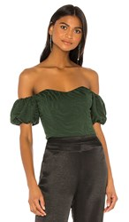 House Of Harlow 1960 X Revolve Armand Bodysuit In Green. Emerald