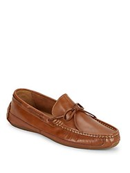 Cole Haan Leather Slip On Moccasins British Tan
