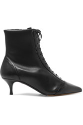 Tabitha Simmons Emmet Lace Up Leather Ankle Boots Black