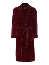 Howick Men's Classic Towelling Robe Burgundy