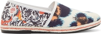 Kenzo Blue And Grey Tiger Splash Espadrilles