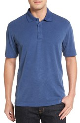 Bugatchi Men's Textured Jersey Polo Navy