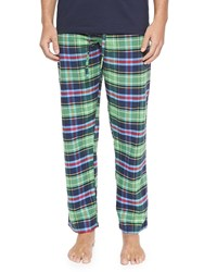 Neiman Marcus Plaid Two Piece Pajama Set Green