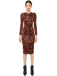Givenchy Floral Printed Pencil Jersey Dress