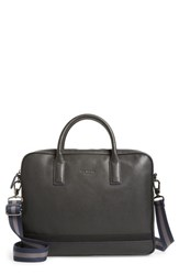 Ted Baker 'S London Lowmee Leather Briefcase Black