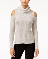 American Rag Cold Shoulder Turtleneck Sweater Only At Macy's Off White