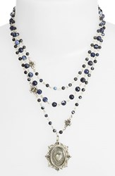 Women's Virgins Saints And Angels 'Magdalena Sacred Heart' Necklace Blue Marble Silver Nordstrom Exclusive