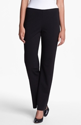 Eileen Fisher Straight Leg Ponte Pants Regular And Petite Black