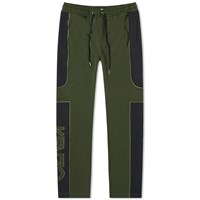 Kenzo Mixed Mesh Tapered Sweat Pant Green