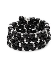 Kenneth Jay Lane Beaded Rhondell Coil Bracelet Black