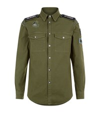 Versus By Versace Military Shirt Male Green