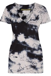 Enza Costa Tie Dyed Pima Cotton T Shirt Blue