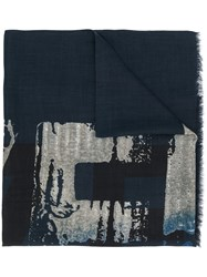 Z Zegna Abstract Print Scarf 60