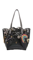 Marc Jacobs Laser Cut Embellished Wingman Tote Black