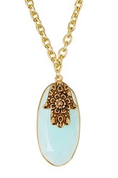 Sapanyu Amazonite Healing Hamsa Protection Necklace Blue