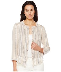Nic Zoe Orchid Fringe Jacket Multi Women's Coat
