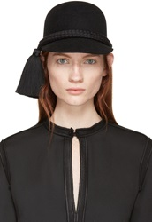 Lanvin Black Rabbit Felt Cap