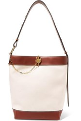 J.W.Anderson Jw Anderson Lock Leather Trimmed Canvas Tote Off White