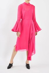 Topshop Showstopper Ruffle Dress By Boutique Bright Pink