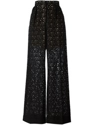 Stella Mccartney Flared Lace Trousers Black