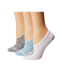 Converse 3 Pack Faux Sequin Star Made For Chuck White Ocean Bliss Grey Women's Crew Cut Socks Shoes White Ocean Bliss Grey