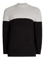 Topman Grey And Black Turtle Neck Jumper