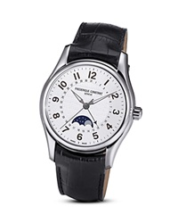 Frederique Constant Runabout Moonphase Watch 43Mm Silver