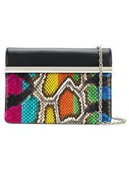 Rodo Snake Effect Clutch Bag Black