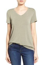 Women's Halogen Modal Jersey V Neck Tee Green Vetiver