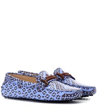 Tod's Exclusive To Mytheresa.Com Gommino Leather Loafers Blue