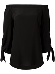 Erika Cavallini Off Shoulder Blouse Black