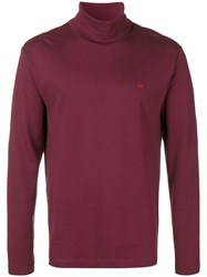 Calvin Klein Jeans Roll Neck Sweater Red
