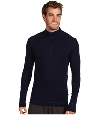 Smartwool Midweight Zip T Deep Navy Men's Long Sleeve Pullover